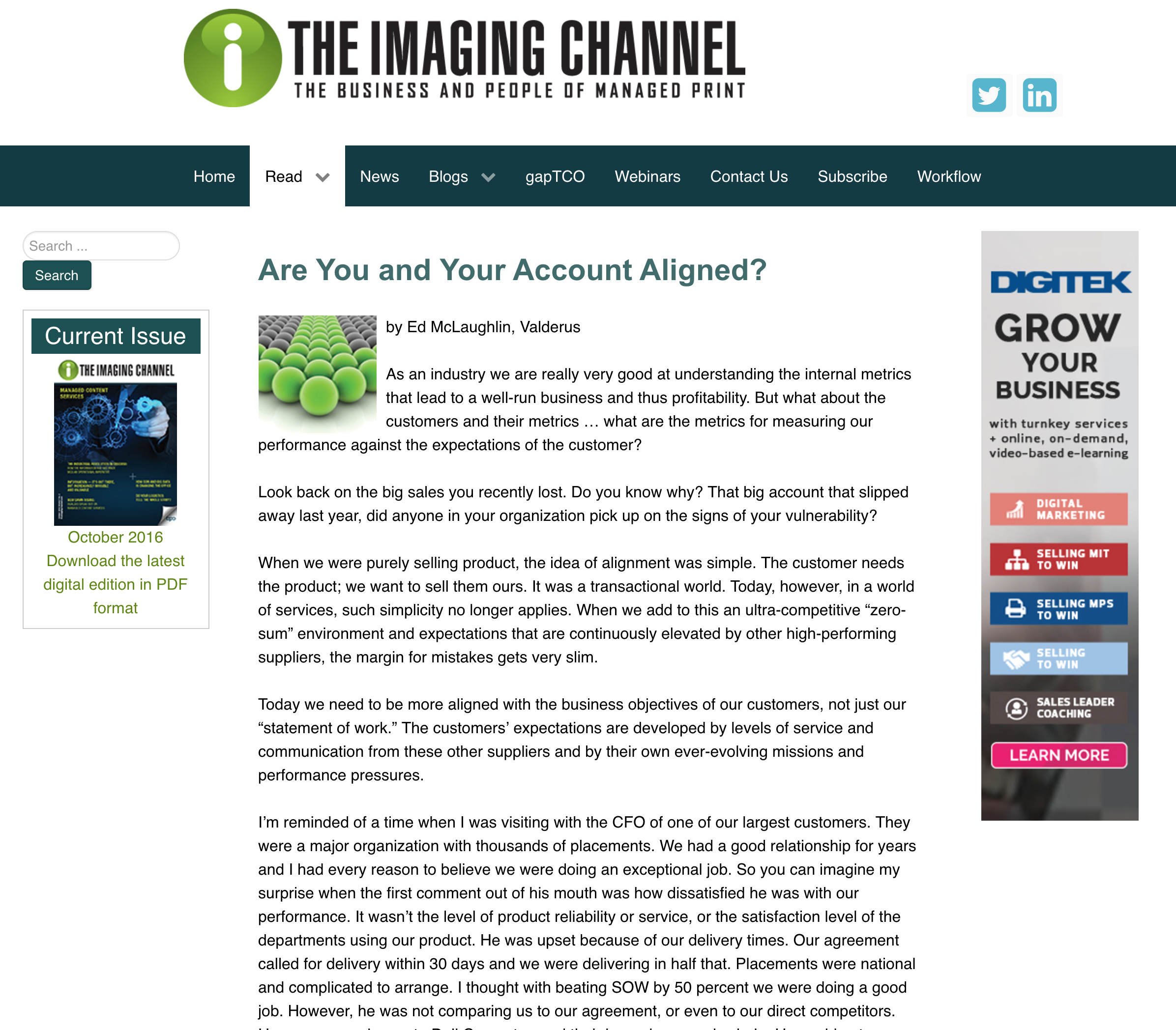 The Imaging Channel   April 2016