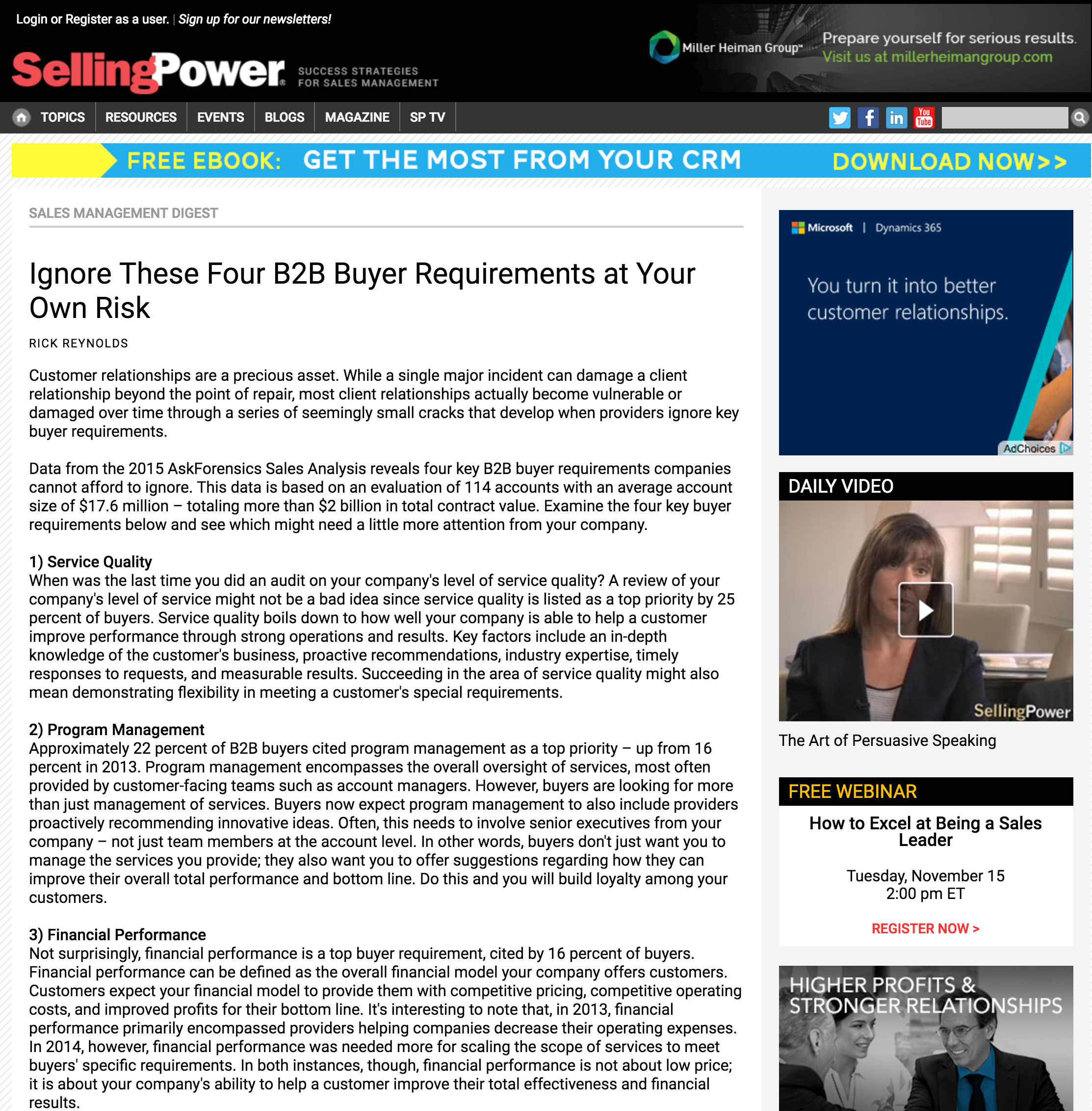 SellingPower (Sales Management Digest | September 2015