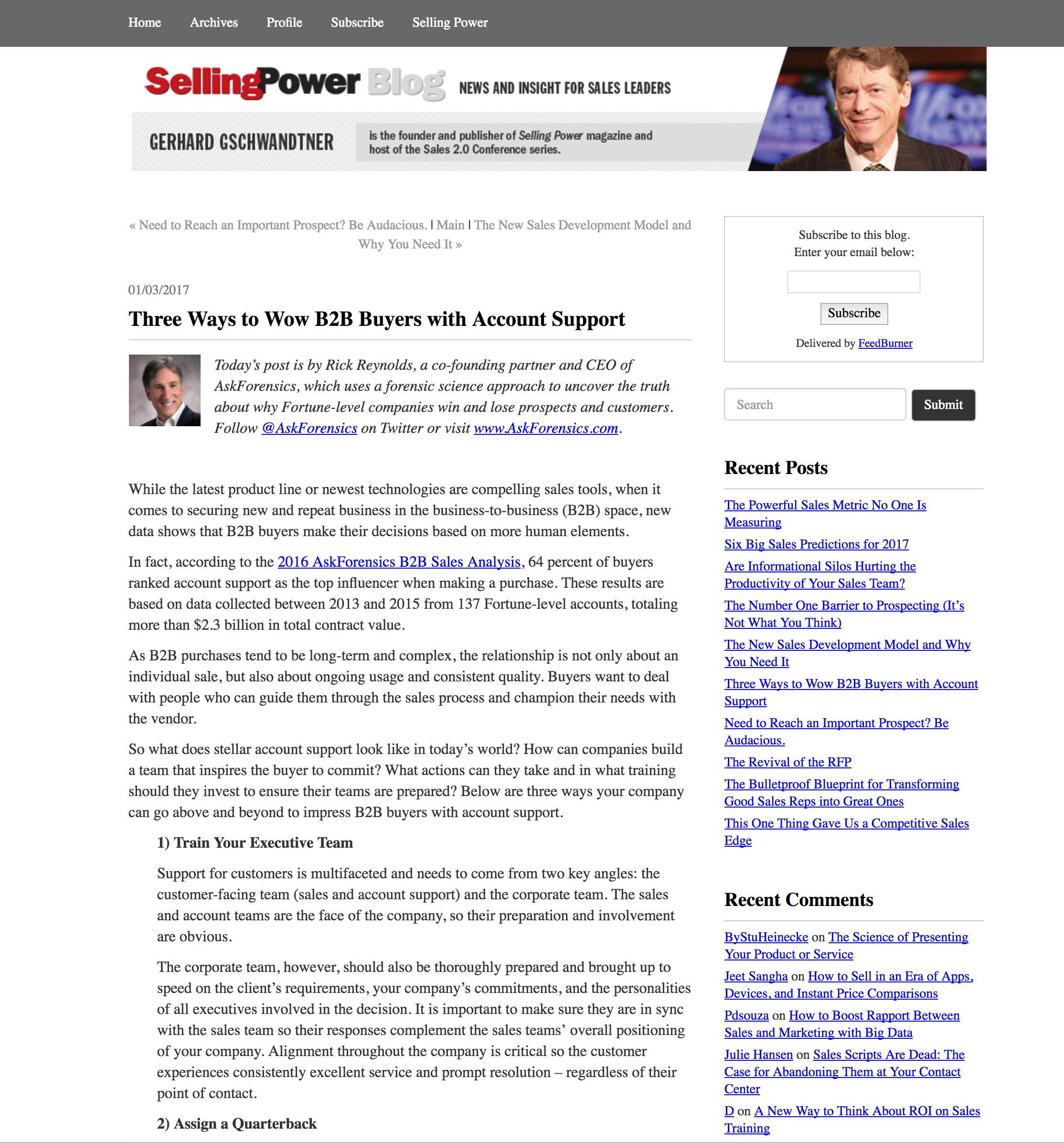 SellingPower   January 2017